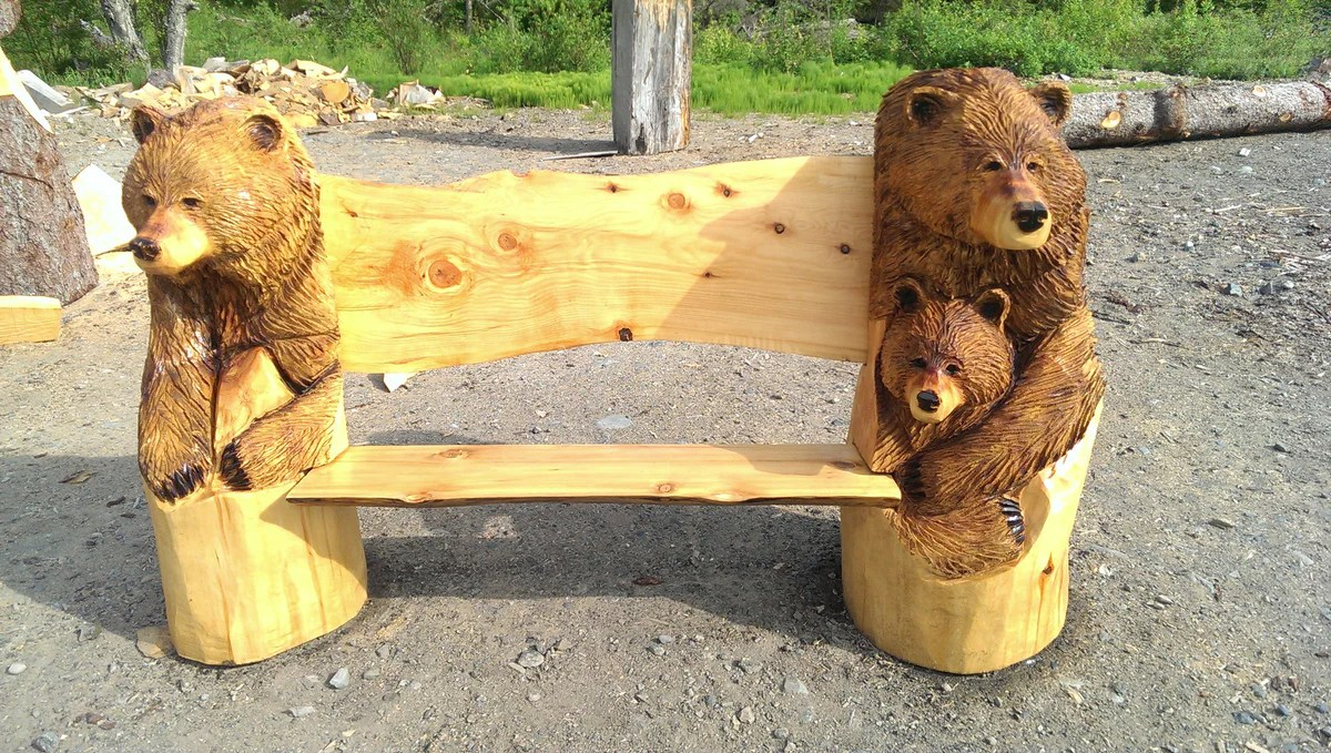 3 bears bench by