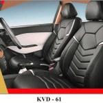 Kvd Superior Leather Luxury Car Seat Cover For Tata Nexon Black Silv Autoclint