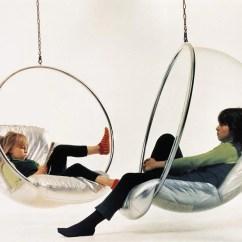 Eero Aarnio Bubble Chair Soccer Ball Bean Bag Couch Potato Company Silver Cushions