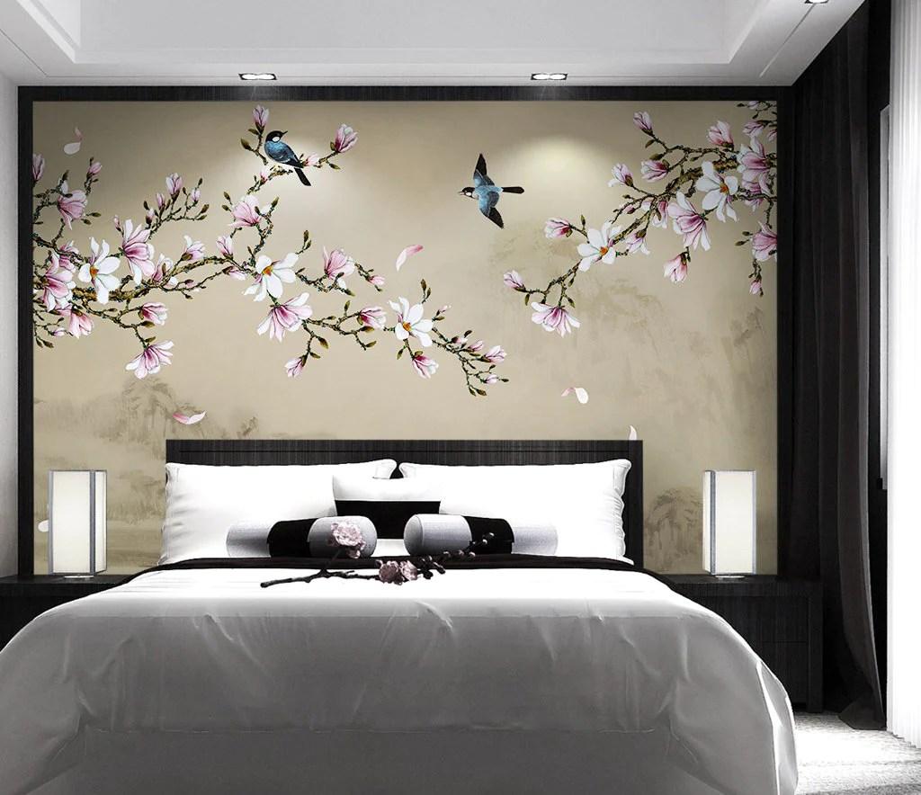 Sakura Flower Wallpaper White And Pink Wallpaper Wall Cover Wallpaew