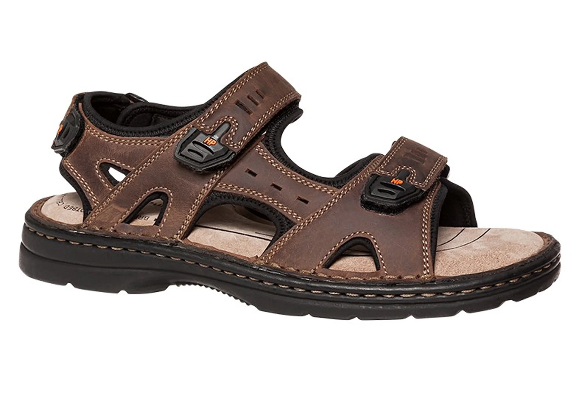 Hush Puppies Simmer Mens Wide Fit Sandals Lightweight Adjustable Comfortable