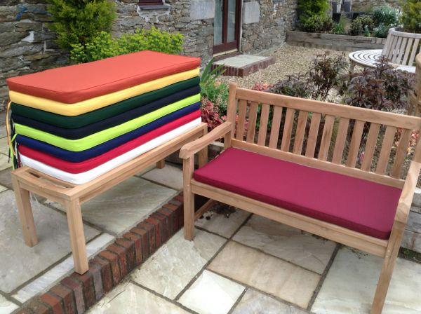 2 seater bench cushion burgundy