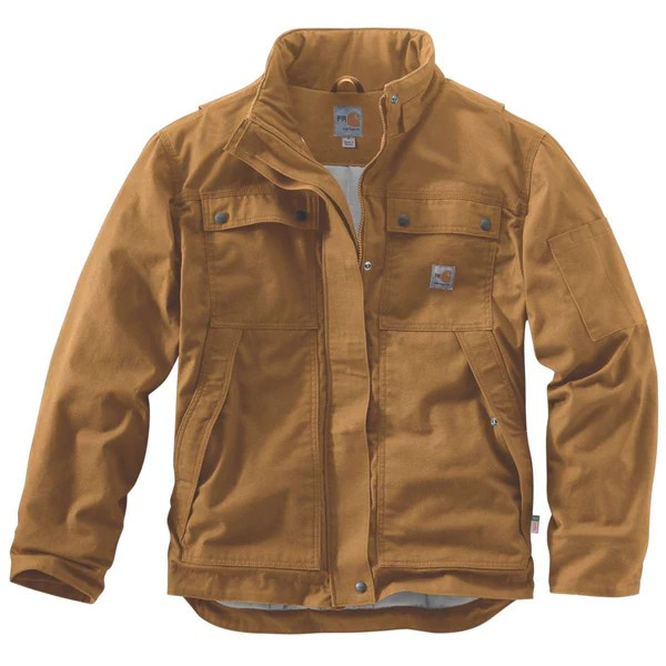 Carhartt Mens Carhartt Brown FR Full Swing Quick Duck Coat