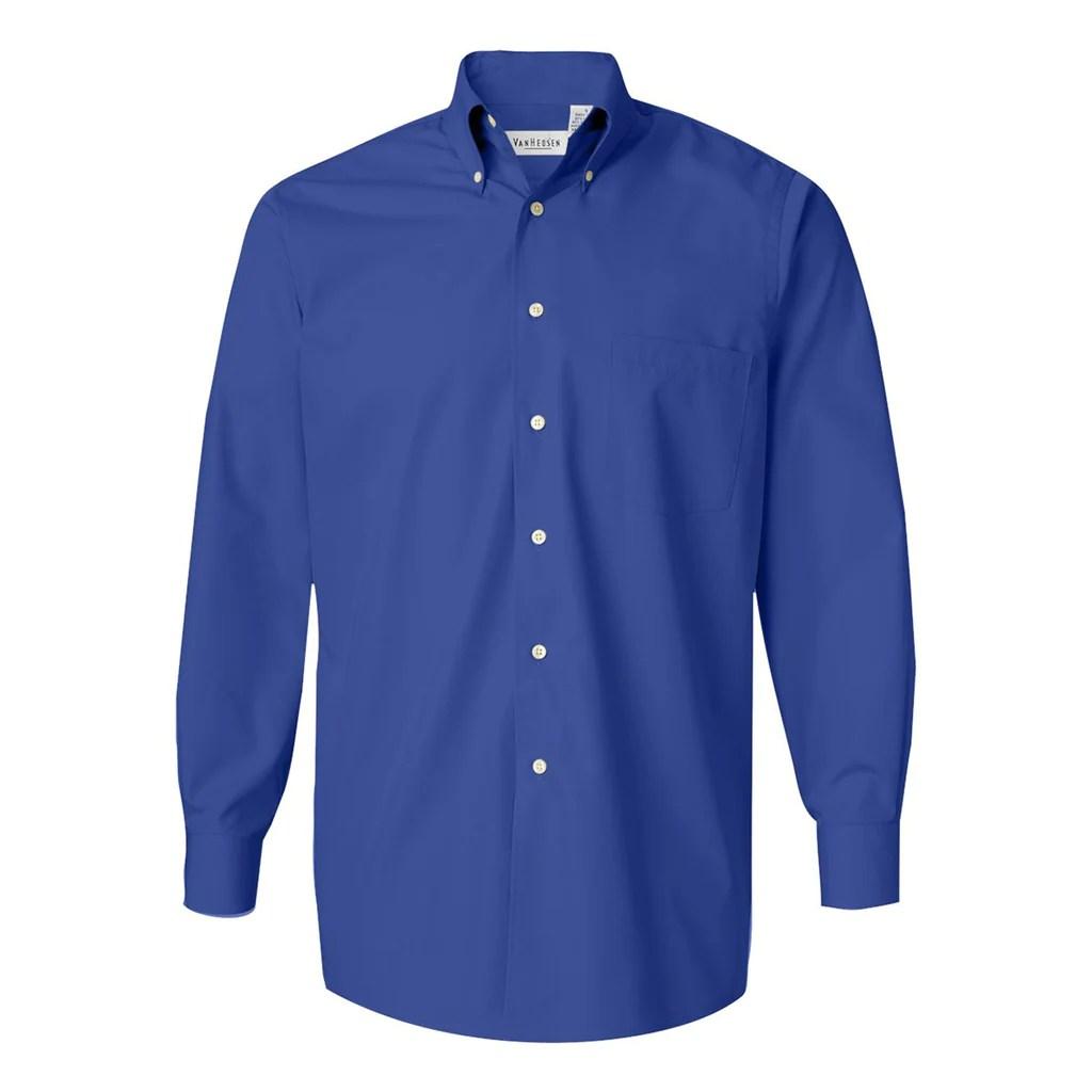 Van Heusen Dress Shirts Men Blue