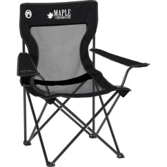 Custom Folding Chairs Chair Cover Depot Reviews Coleman Mesh Black Quad With Pocket On Back