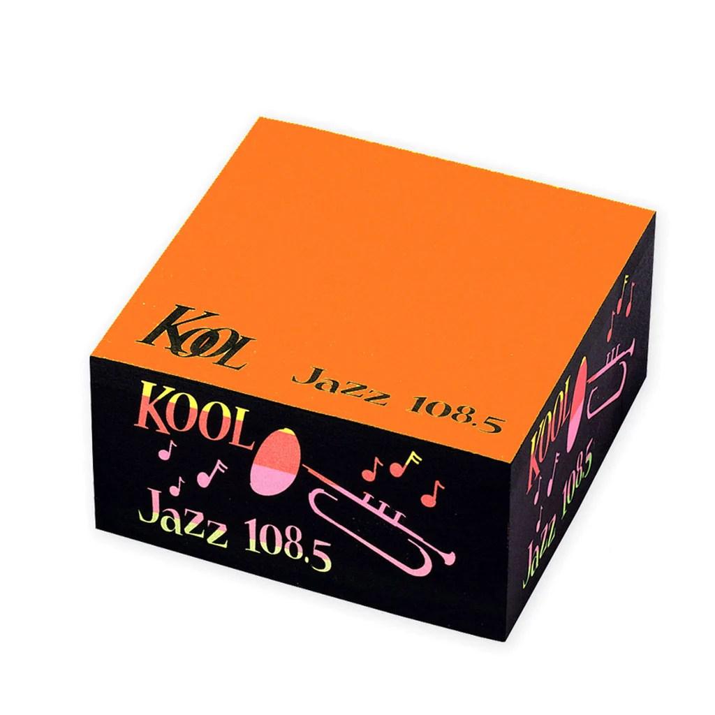 Post- Neon Orange Custom Printed Notes Rainbow Cube