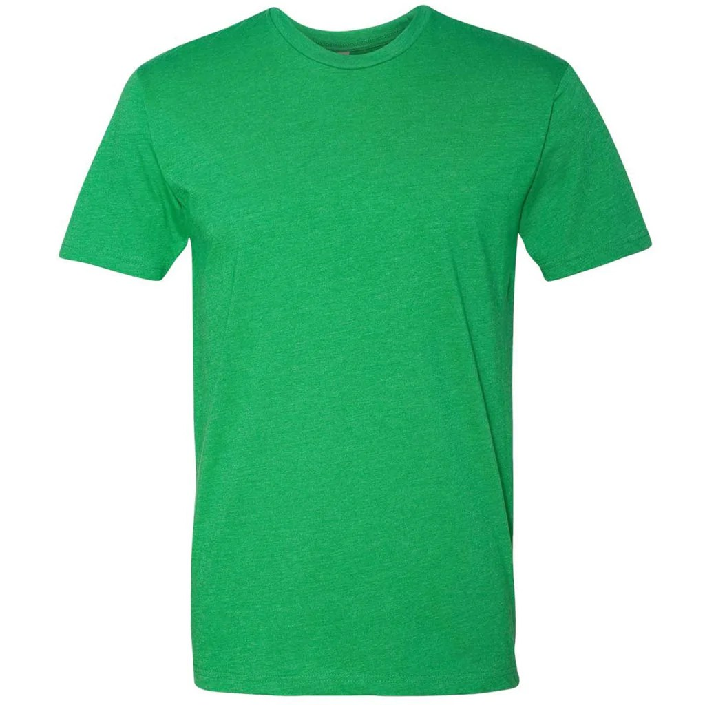 Level Men' Kelly Green Premium Fitted Cvc Crew Tee