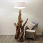 Large Wooden Rustic Root Lamp Rustic House Cornwall