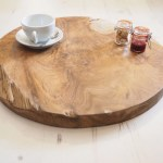 Reclaimed Wood Chopping Board Round Large Rustic House Cornwall