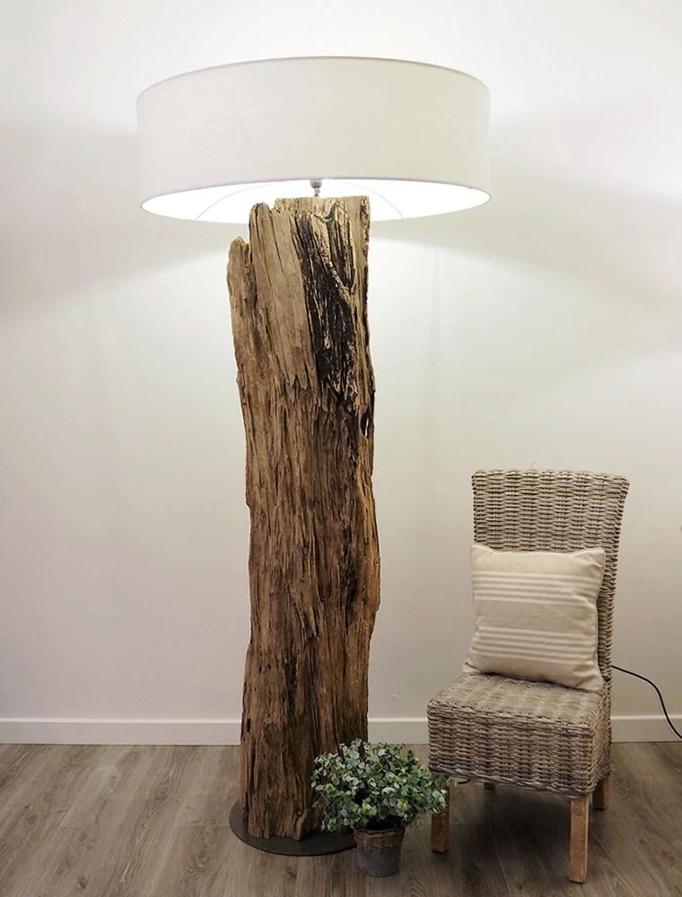 rustic wooden tree trunk floor lamp kenyon tall