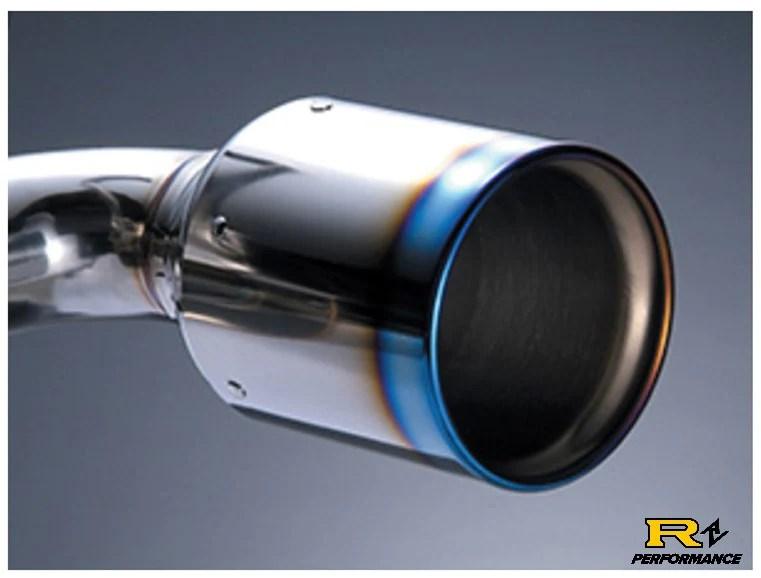 hks dual hi power 350z titanium tip catback exhaust 2003 07 vq35de 32009 bn001