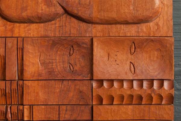 Teak PanelSculpture By Leroy Setziol The Good Mod