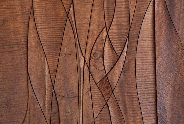 SCULPTED WOOD DOOR Artist Leroy Setziol SOLD The Good Mod