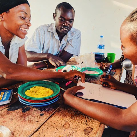 Artisans at Swahili Coast Cooperative in Tanzania.