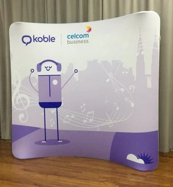 Tension fabric display backdrop system