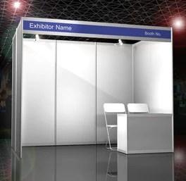 chair stand unit samba swivel shell scheme booth 3 x meter