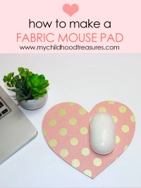 HOW TO MAKE A FABRIC MOUSEPAD TUTORIAL  fat quarter ...