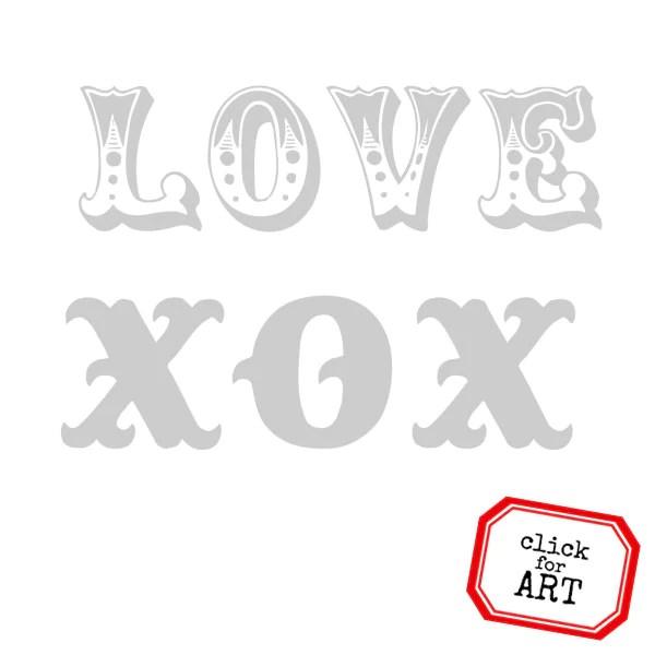 love xox valentine rubber