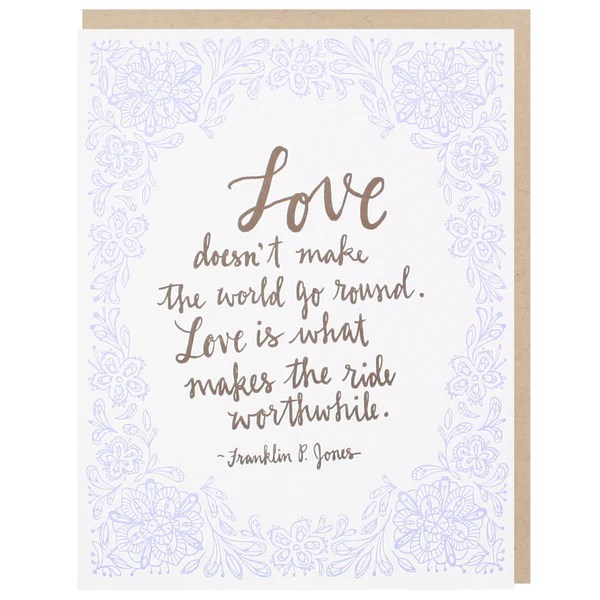 Love Quotes Card Greeting