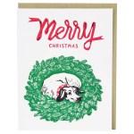 Jingle Dog Christmas Card Happy Holidays Cards Smudge Ink Smudgeink Com