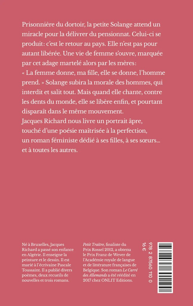 Qui Chante Une Femme Avec Une Femme : chante, femme, Femme, Chante, Roman, Jacques, Richard, ONLIT, Editions