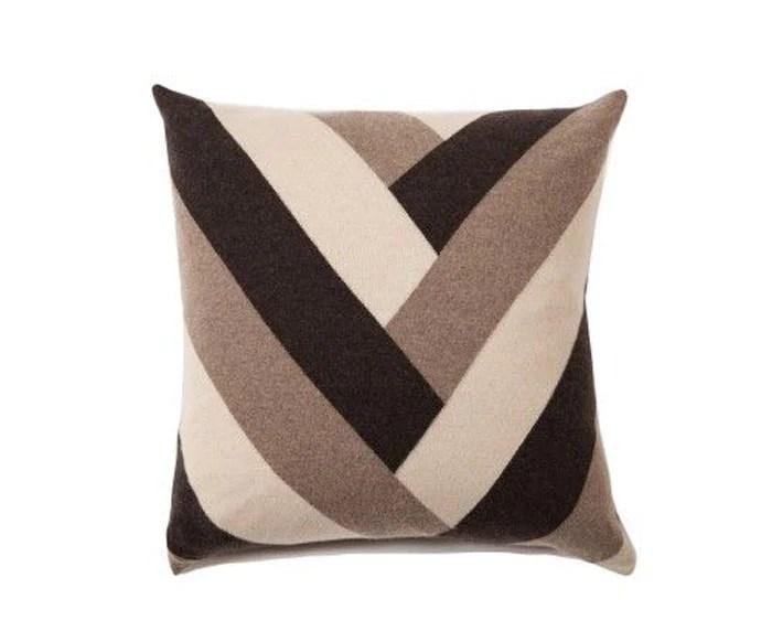 Cashmere V Pillow - Chocolate By Rani Arabella