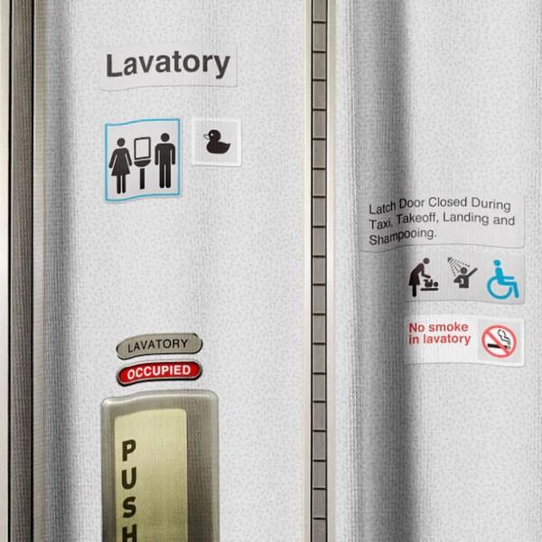 Shower Curtain  Airplane lavatory  Airportag