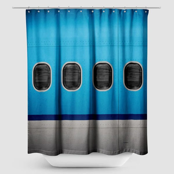 Shower Curtain KL Airplane Windows Airportag