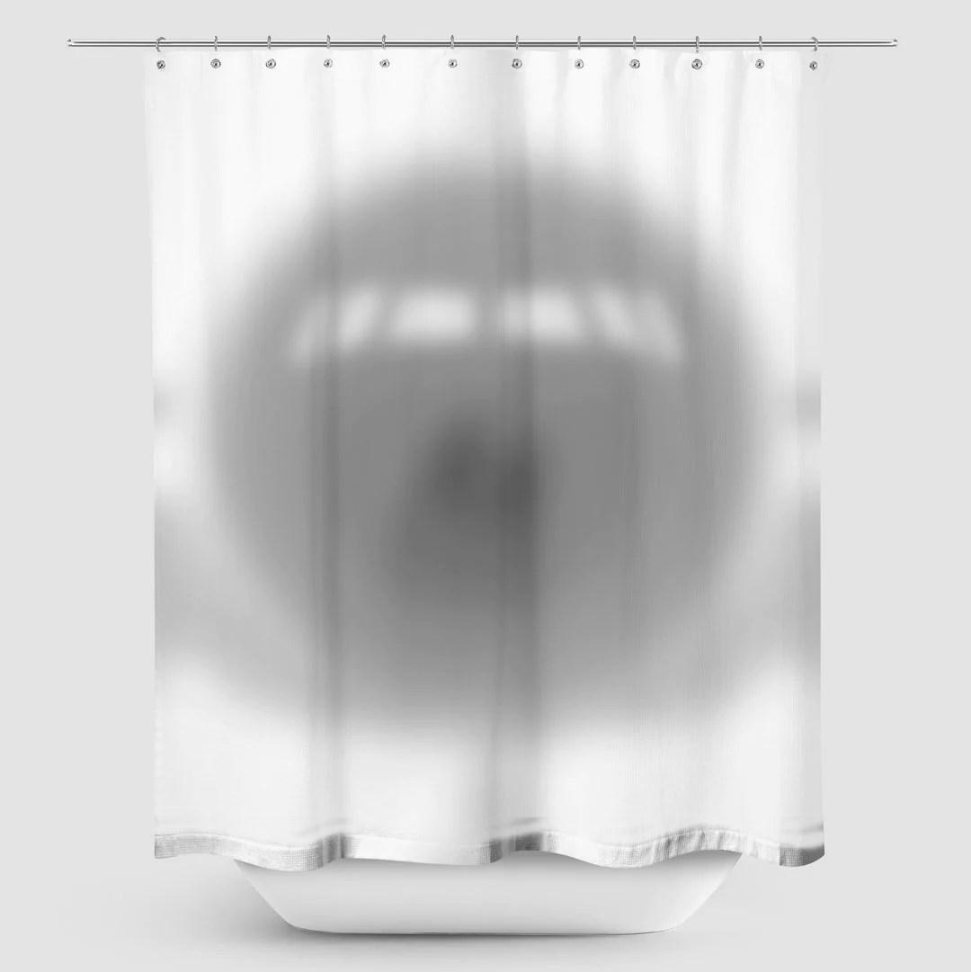 airplane shadow shower curtain
