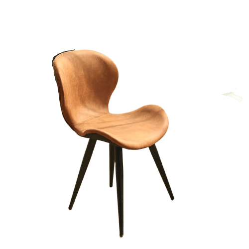 chaise scandinave pied metal orange