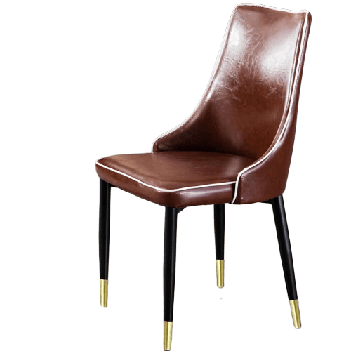 chaise scandinave cuir