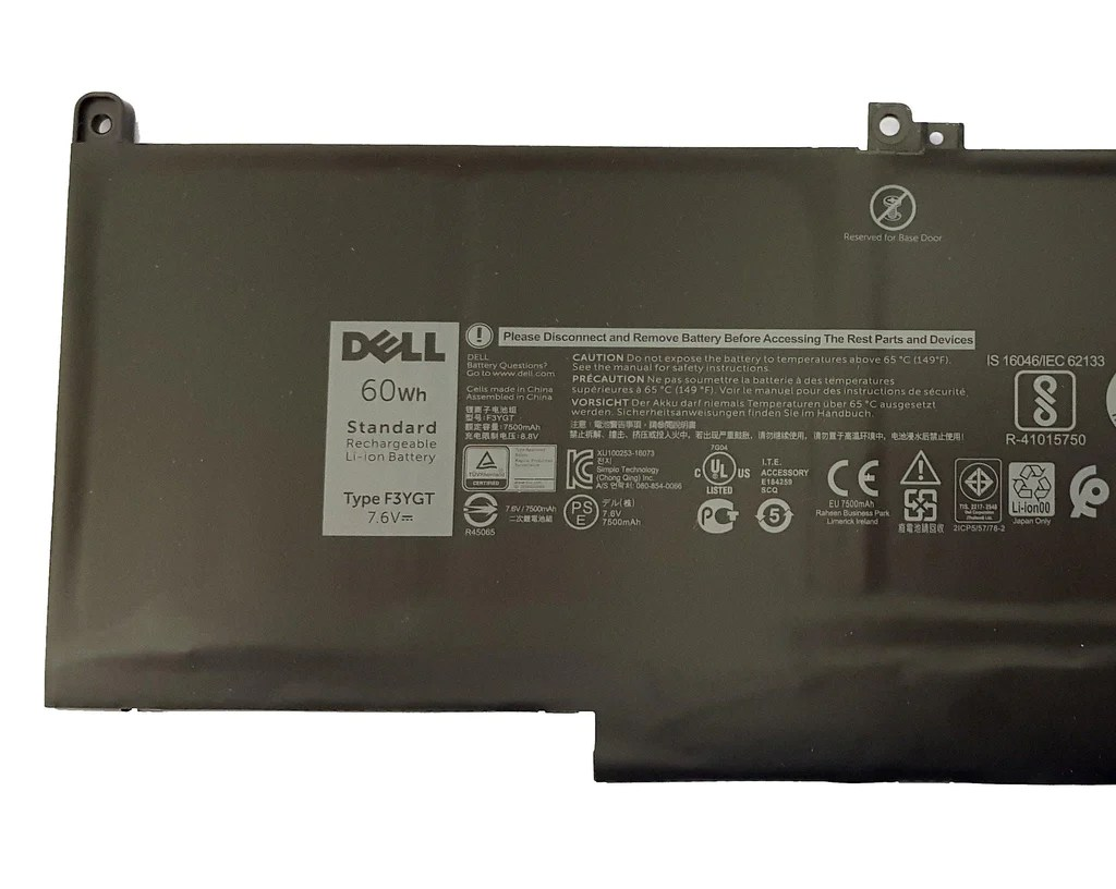 Dell Latitude 7280 7290 7480 7490 Laptop Battery F3YGT DM3WC 451-BBYE 60WH | Black Cat PC - Providing Dell Parts Since 1998