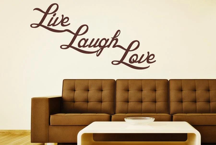 Live Laugh Love Wall Stickers Uk Mirror Silver Live Laugh Love