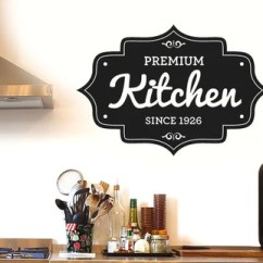 Kitchen Wall Art Cape Cod Design Personalised Stickers Cut It Out Premium Sticker