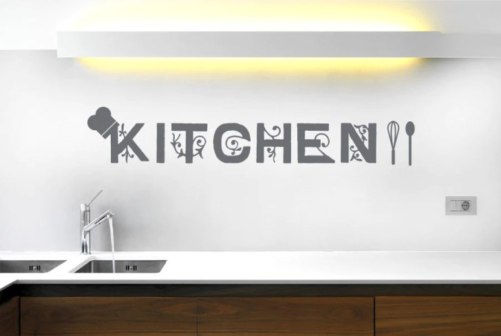 Kitchen Wall Stickers Cut Out