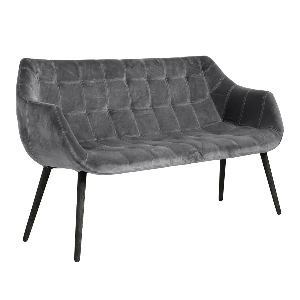 ashley manor harriet sofa in mink hay mags fabrics grey velvet bench with black wooden legs annie mo 39s