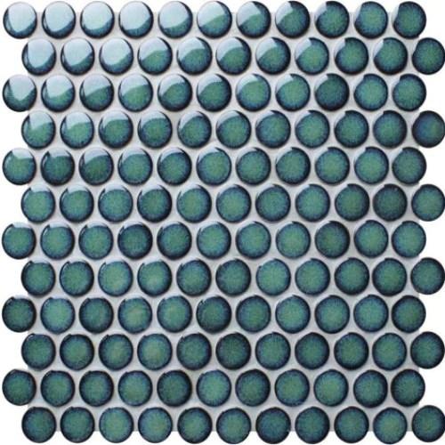 soho large penny round mosaic tile green emerald