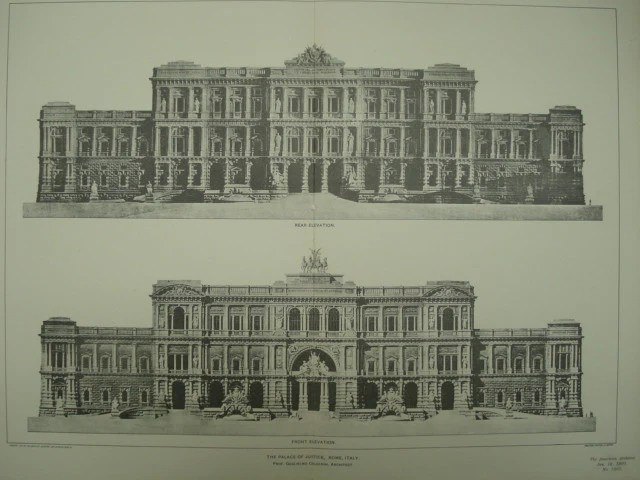 Palace Of Justice Rome Italy Eur 1901 Prof Guglielmo