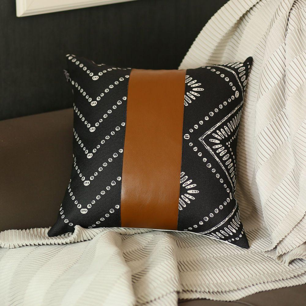 brown vegan faux leather square 17