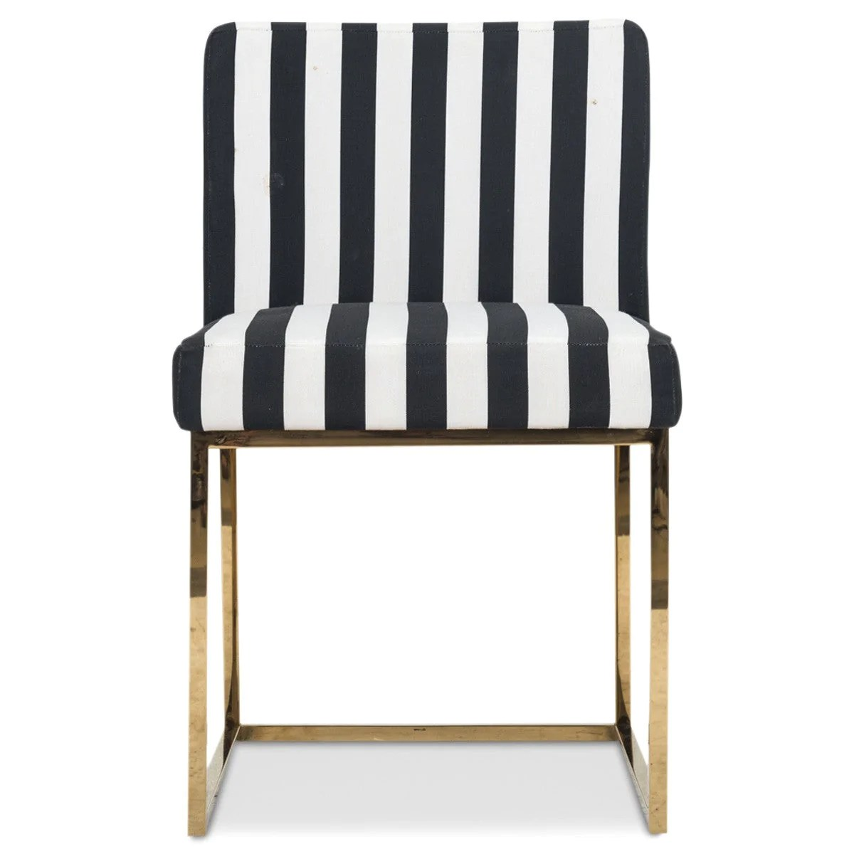 striped dining chair sewing machine modern black and white modshop 007 in stripes