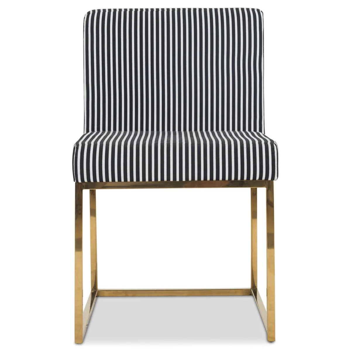 Black And White Dining Chair Modern Black And White Striped Dining Chair Modshop