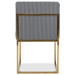 Striped Dining Chair Eames Ebay Modern Black And White Modshop
