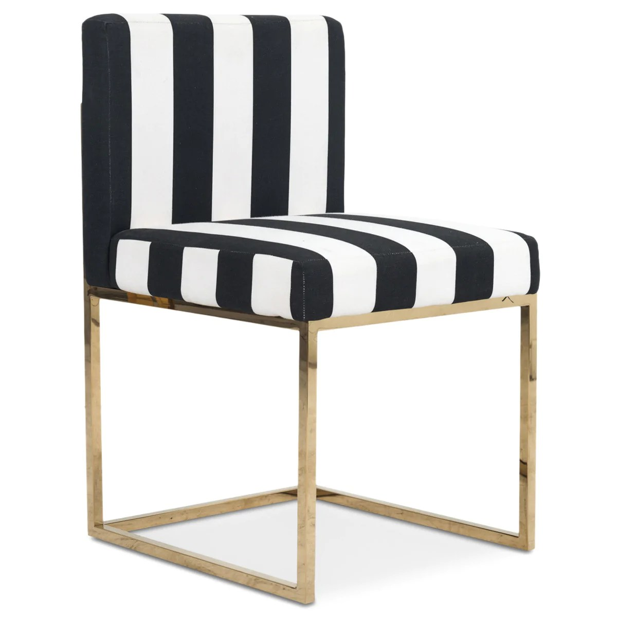striped dining chair queen anne chairs ethan allen modern black and white modshop 007 in stripes