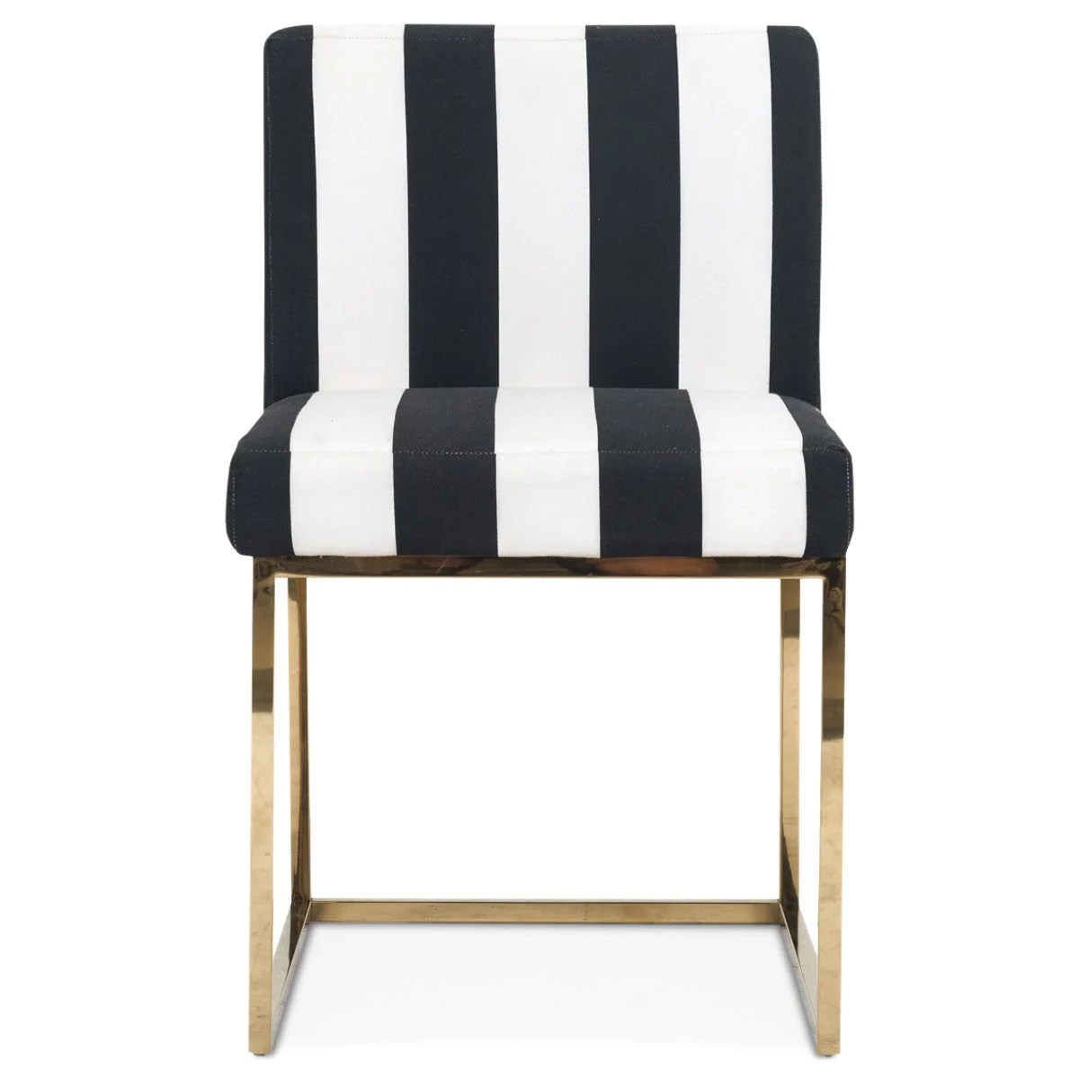 black white dining chair metal folding chairs with cushion modern and striped modshop