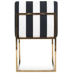Striped Dining Chair Bookshelf For Sale Modern Black And White Modshop 007 In Stripes