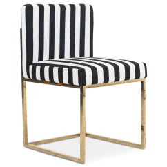 Striped Dining Chair Set Of 6 Antique Oak Chairs Modern Black And White Modshop 007 In Stripes