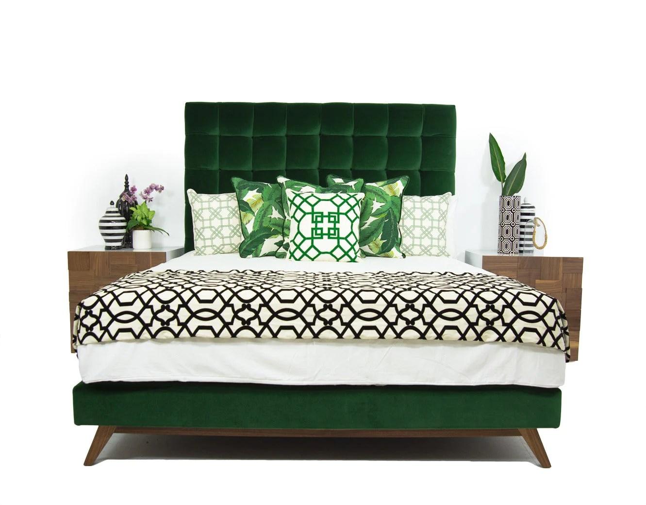 emerald green velvet sofa bed sleeper sofas portland or delano in como modshop