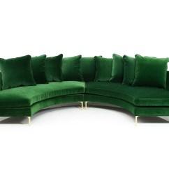 Emerald Green Velvet Sofa Bed Chesterfield Frame Sardinia Sectional Modshop