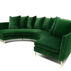 Emerald Green Velvet Sofa Bed Warehouse Uk Round Sectional In Modshop