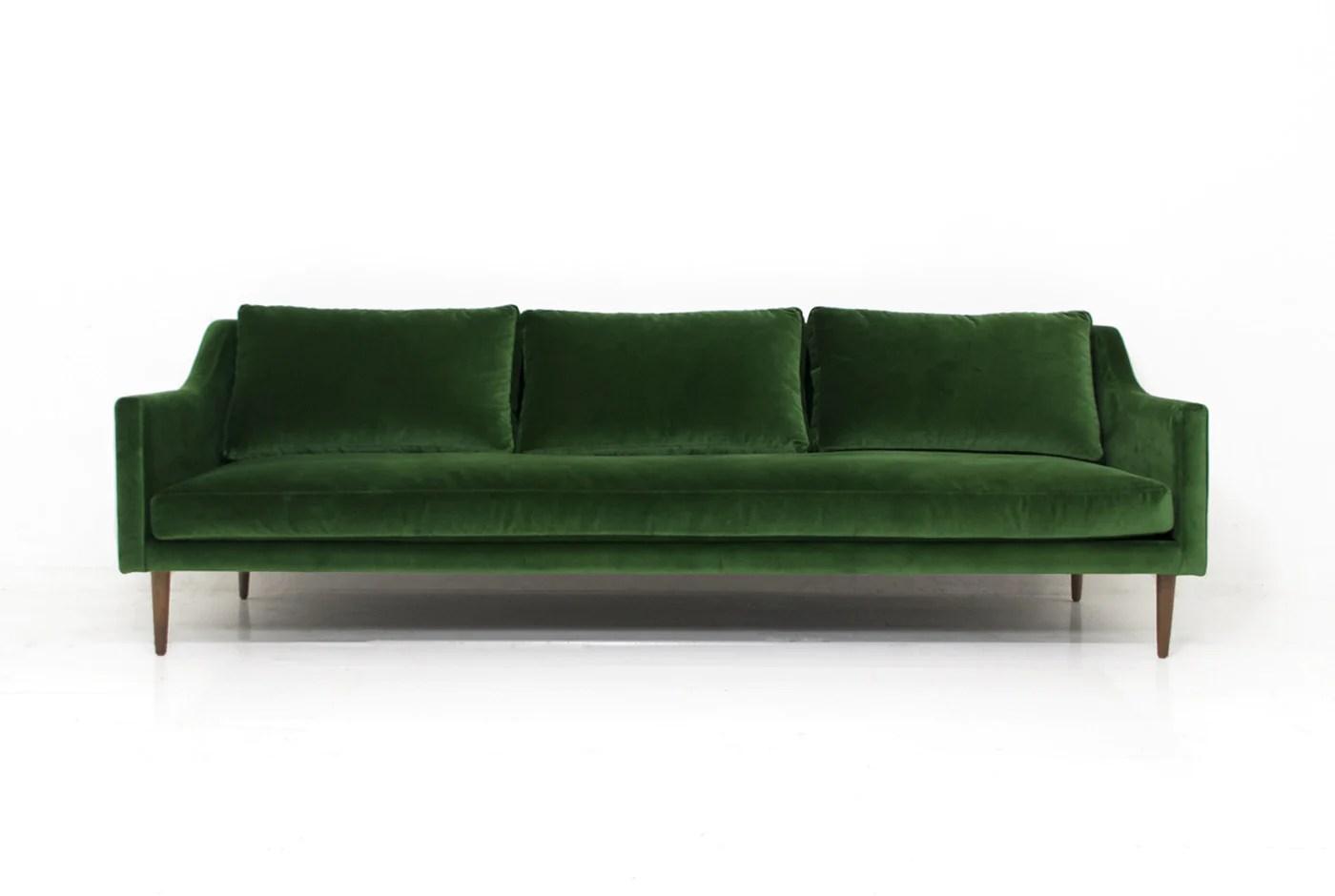 emerald green velvet sofa bed best sets for living room naples in modshop